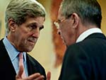 Kerry, Lavrov Meet to  Discuss Syrian Peace Talks