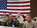 Obama Visits Afghanistan to See  Troops; No Plans to Meet Karzai