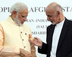 Modi Conferred with  Afghanistan's Highest  Civilian Honour