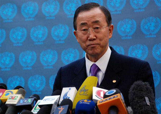 No Military Solution to Syrian Crisis: UN Chief