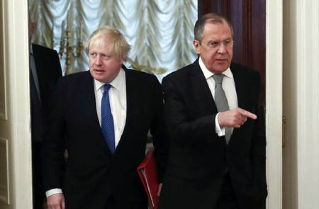 UK's Johnson, on Moscow Visit, Tells Moscow to Stop Meddling in Europe