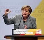 Merkel Emphasizes  German Prosperity, Security at Rally
