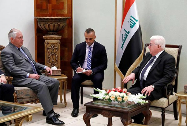 Tillerson Calls for Iraqi Unity, Urges  Dialogue on Kurdish Issue