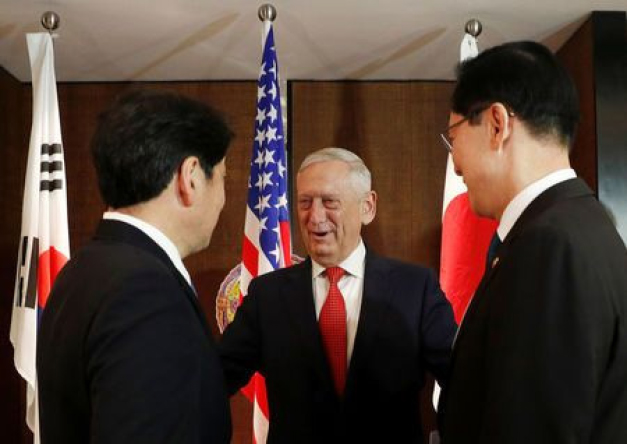 Relief for North Korea Only after Clear,  Irreversible Steps to Denuclearization: Mattis