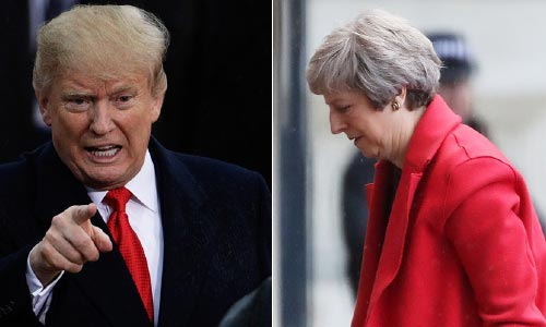 Trump 'Bashes' UK's May after She Calls  to Congratulate Him on Midterm Results