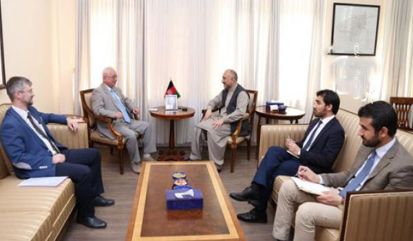 Atmar, Russian  Envoy Discuss Ceasefire with Taliban