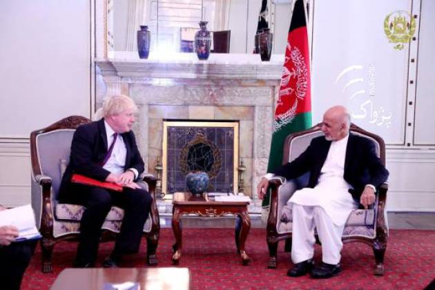 Johnson Meets Afghan Leaders on Security,  Counter Terror