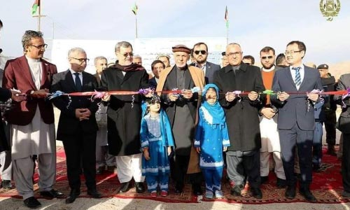 Ghani Arrives in Daikundi to  Inaugurate Development Projects