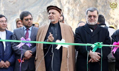 President Ghani  Inaugurates Work on Power  Projects in Bamyan