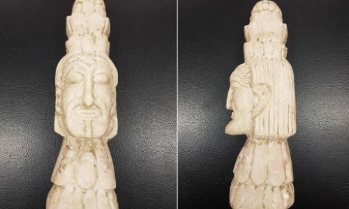 Kabul Police Foils  Smugglers Bid to Sale  an Ancient Sculpture  for $250,000