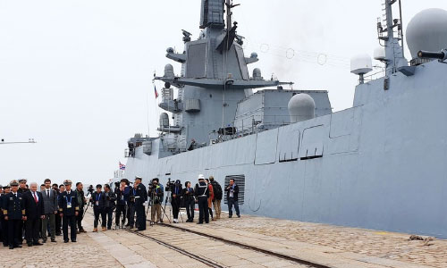 Russian, Indian Warships Join  Chinese Navy's 70th Anniversary Celebrations