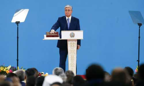 New Kazakh President Plans to  Stay on Predecessor's Course