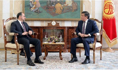 Rabbani, Kyrgyzstan President Confer on  Bilateral Cooperation