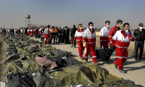 Ukrainian Interior Ministry Expects Iran Identify Plane Crash Victims' Bodies, Return Them to Kyiv