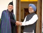 Karzai Holds Talks with Prime Minister Manmohan Singh