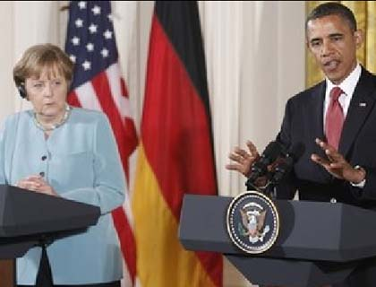 Obama, Merkel Agree on More  Potential Sanctions against Iran