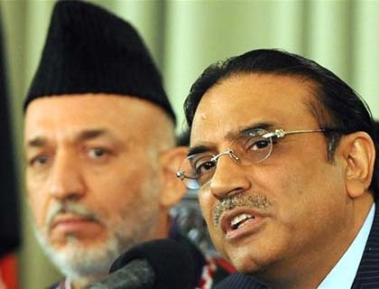 Karzai, Zardari  Vow to Accelerate  Anti-Terror Fight